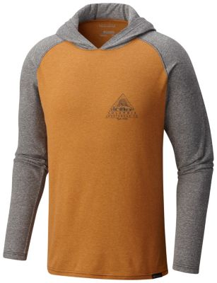Columbia Mens Trail Shaker Hoodie ( Canyon Gold/Charcoal Heather)