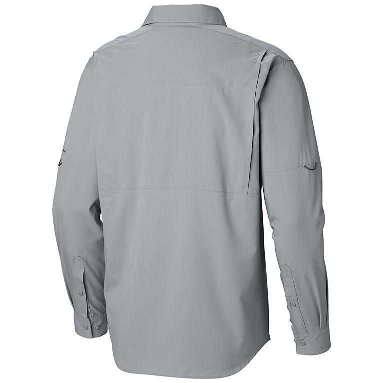 Men's Sleeve Lite Silver Columbia Shirt Long Ridge Trail Button Up AAHTqZw