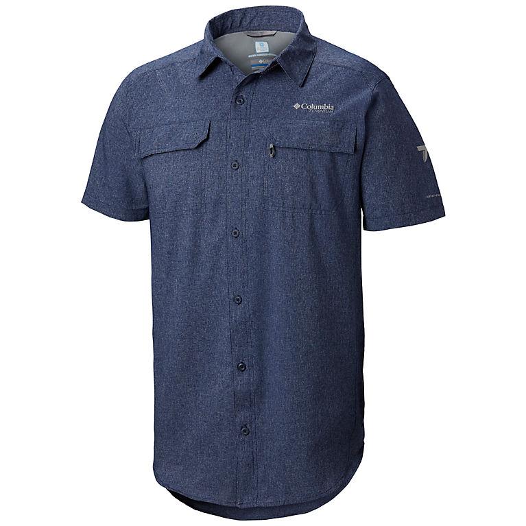 06c4bba10cf20 Collegiate Navy Heather Men's Irico™ Short Sleeve Shirt, ...