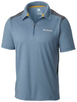 63610935521 Men's Titan Ice Zip Polo Shirt | Columbia.com
