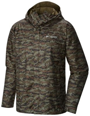 men�s watertight breathable hooded printed jacket columbia