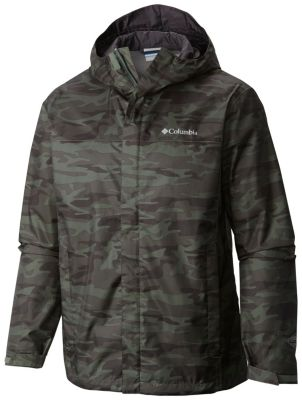 men�s watertight breathable hooded printed jacket tall