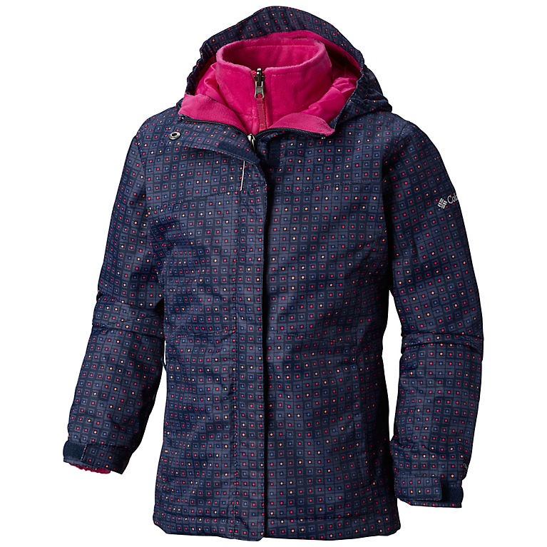 80a5c81112e Collegiate Navy Squares N Dots Girls  Arctic Trip™ II Interchange Jacket