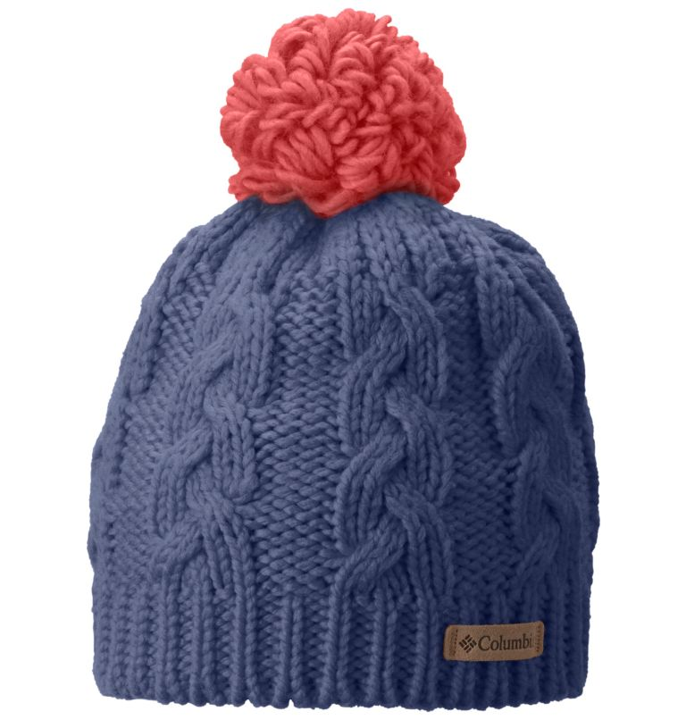 In-Bounds™ Beanie | 508 | O/S Youth In-Bounds™ Beanie, Bluebell, Hot Coral, front