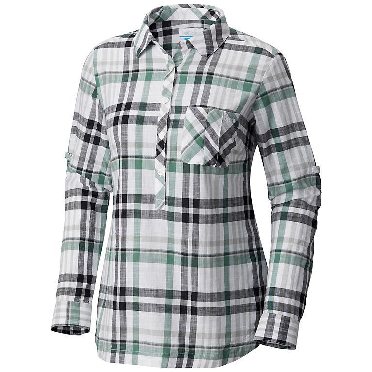 3453f6094d5 Black Plaid Women s PFG Coral Springs™ II Woven Long Sleeve Shirt
