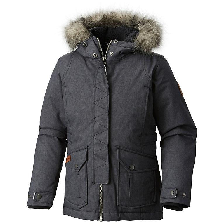 6d303e6a84d7 Black Melange Veste à capuche isolée Barlow Pass™ 600 TurboDown Fille