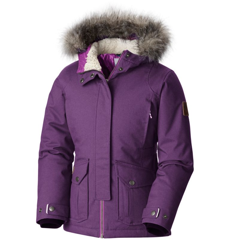 Girl's Barlow Pass™ 600 TurboDown Insulated Hooded Jacket Girl's Barlow Pass™ 600 TurboDown Insulated Hooded Jacket, front