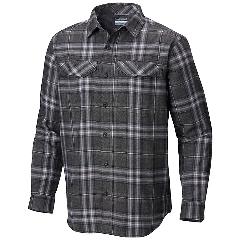 11cae3ee7dd Black Plaid Men's Silver Ridge™ Flannel Long Sleeve Shirt, ...