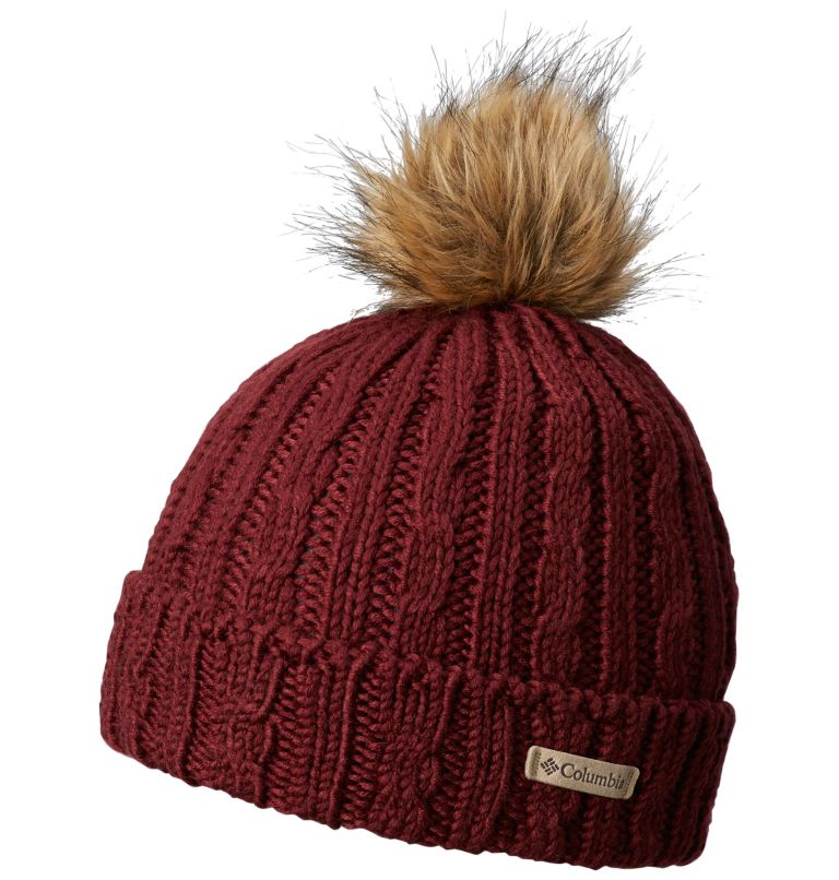 Catacomb Crest™ Beanie | 624 | O/S Berretto Unisex Catacomb Crest™, Rich Wine, front