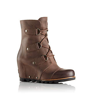 Sorel Leather Wedge Booties