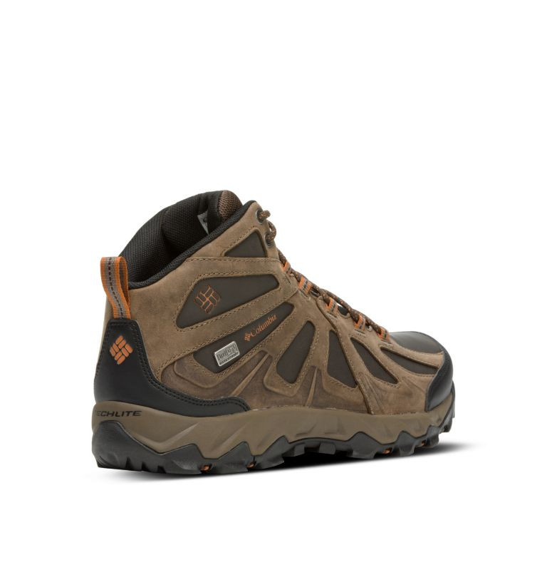 Men's Peakfreak XCRSN II Mid Leather OutDry™ Trail Shoe Men's Peakfreak XCRSN II Mid Leather OutDry™ Trail Shoe, 3/4 back