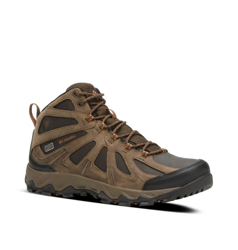 Men's Peakfreak XCRSN II Mid Leather OutDry™ Trail Shoe Men's Peakfreak XCRSN II Mid Leather OutDry™ Trail Shoe, 3/4 front