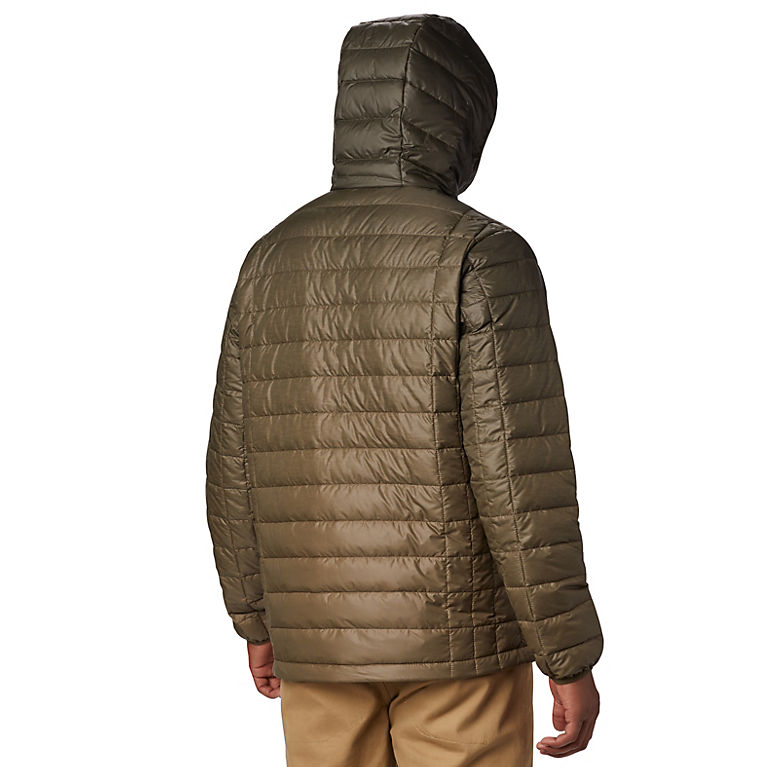 41c05db9b Olive Green Topo Fade Print Men's Voodoo Falls 590 TurboDown™ Hooded Jacket,  View 1