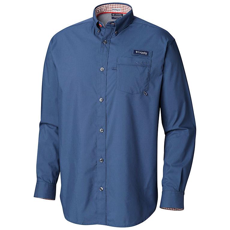 3e8c80643e8 Dark Mountain, Rusty Gingham Men's PFG Harborside™ Woven Long Sleeve Shirt,  ...