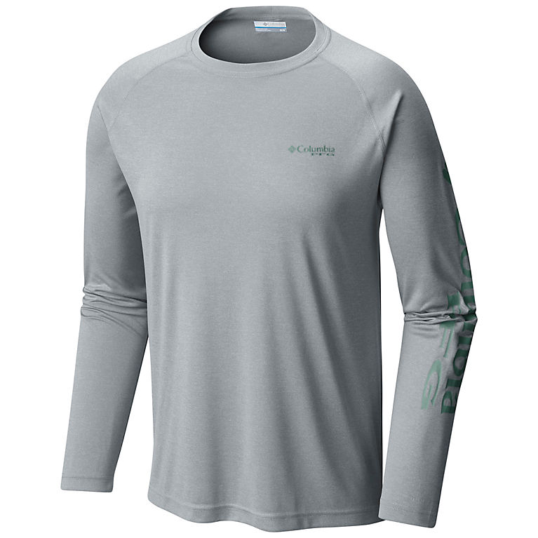 90b5d282 Cool Grey Hthr, Thyme Green Lo Men's PFG Terminal Tackle™ Heather Long  Sleeve Shirt
