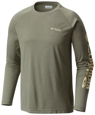 Men's PFG Terminal Tackle™ Heather Long Sleeve Shirt at Columbia Sportswear in Oshkosh, WI | Tuggl