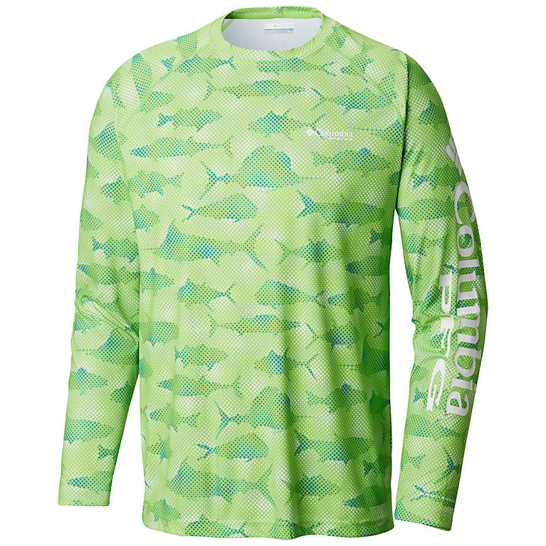 90ecd199 Green Mamba Multi Fish Print Men's PFG Super Terminal Tackle™ Long Sleeve  Shirt, View