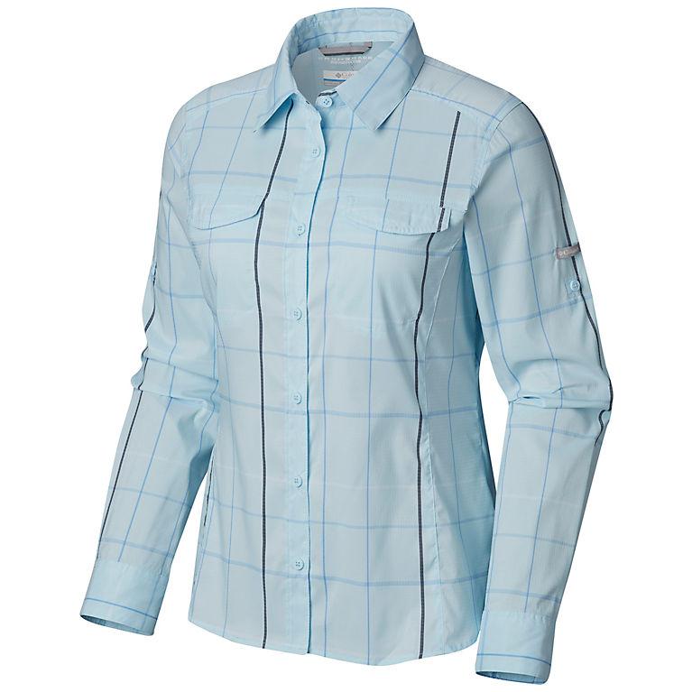 c4a66096b2d Pale Blue Large Plaid Women's Silver Ridge™ Lite Plaid Long Sleeve Shirt – Plus  Size
