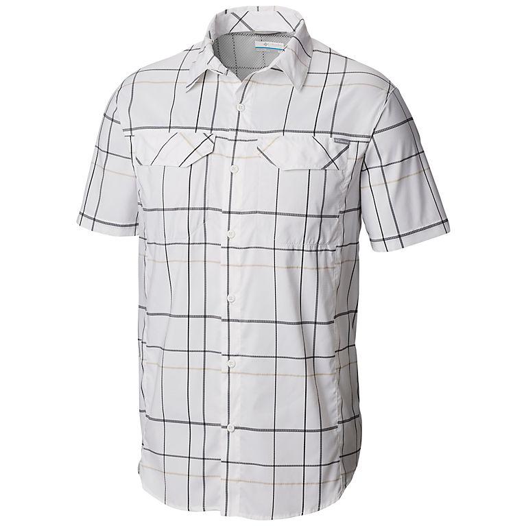 2e85313eaf2 Beach Open Pane Plaid Men's Silver Ridge Lite Plaid™ Short Sleeve, ...