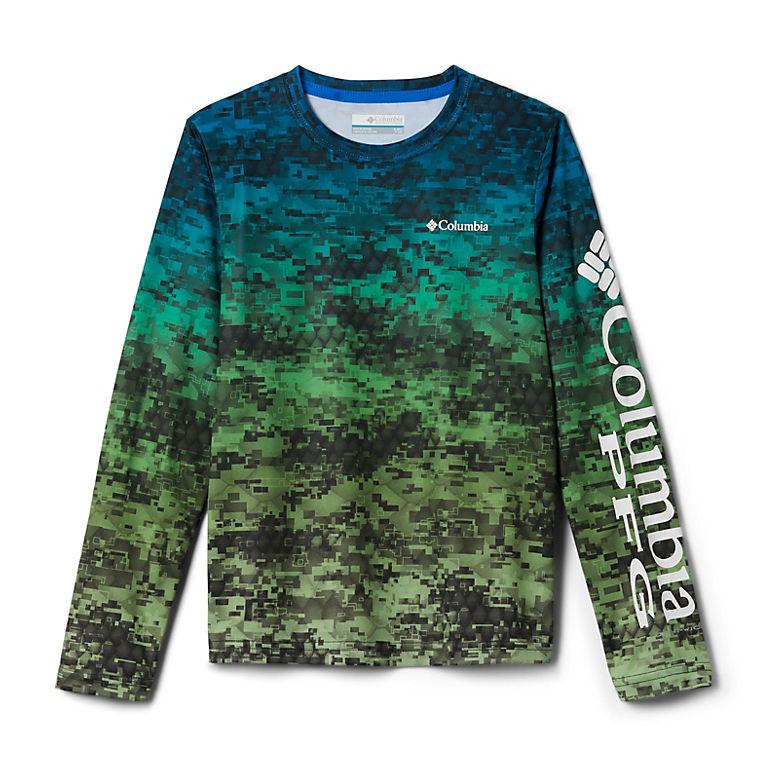 83c38cf8 Hyper Blue Digi Camo Fade Kids' PFG Super Terminal Tackle™ Long Sleeve Shirt ,