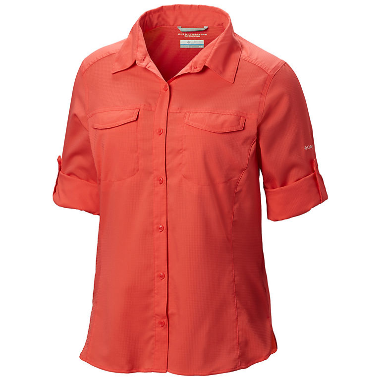 241f9442146 Red Coral Women's Silver Ridge™ Lite Long Sleeve Shirt - Plus Size, View 2