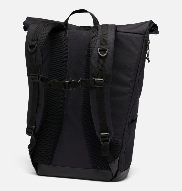 Convey™ 25L Rolltop Daypack   011   O/S Unisex Convey™ 25L Rolltop Daypack, Black, Black, back