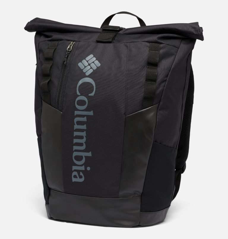 Convey™ 25L Rolltop Daypack   011   O/S Unisex Convey™ 25L Rolltop Daypack, Black, Black, front