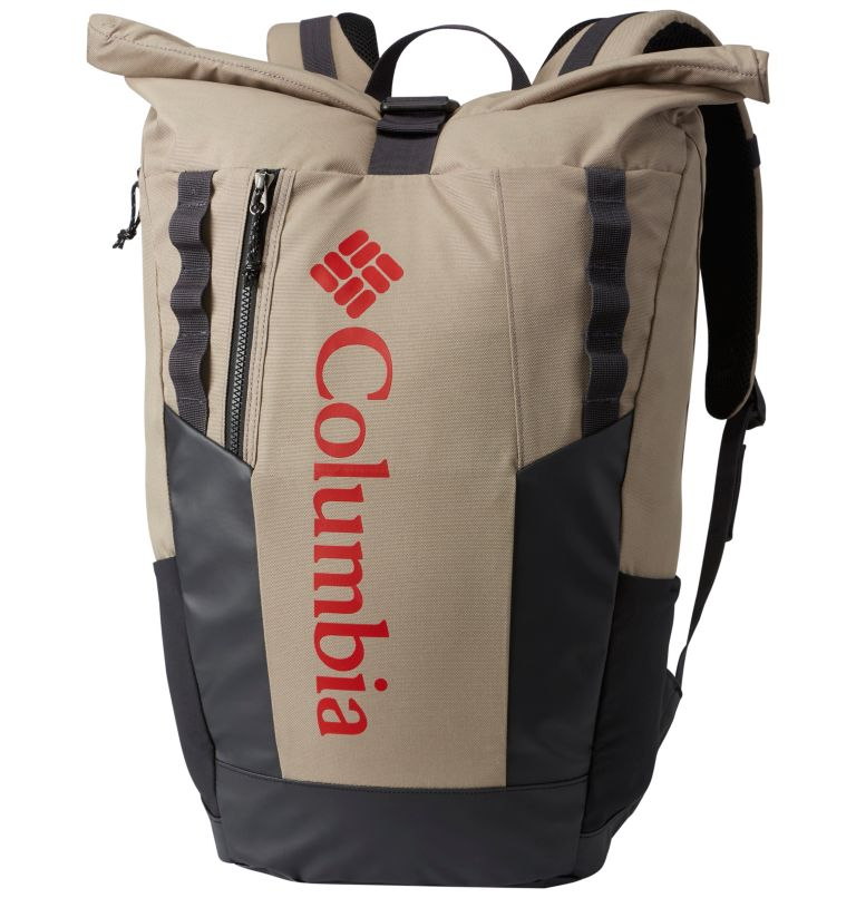 Convey™ 25L Rolltop Daypack   221   O/S Sac À Dos Avec Fermeture Par Enroulement 25 Litres Convey Unisexe, Tusk, Red Spark, front