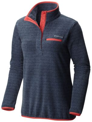 Women's Mountain Side™ Printed Fleece Pull Over | Tuggl