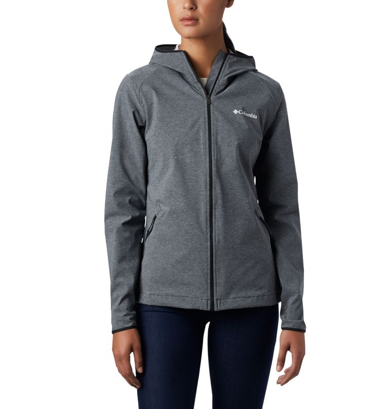 Heather Canyon™ Softshell Jack | 010 | XL Giacca softshell Heather Canyon™ da donna, Black, front