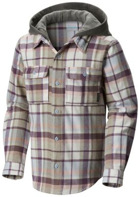 Youth Boulder Ridge™ Flannel Hoodie at Columbia Sportswear in Oshkosh, WI | Tuggl