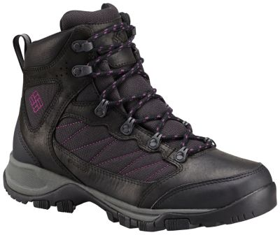 Columbia Damen Cascade Pass Waterproof Trekking-& Wanderstiefel, Schwarz (Black/Intense Purple), 41.5 EU