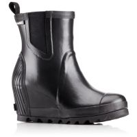 Deals on Sorel Womens Joan Rain Wedge Chelsea Boot