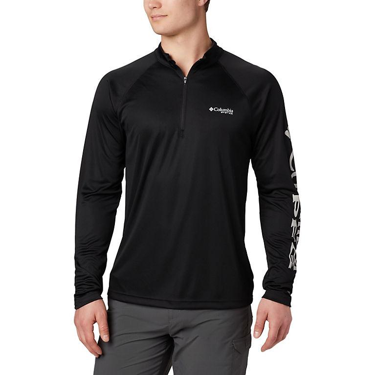 de9607a4 Black, Cool Grey Logo Men's PFG Terminal Tackle™ 1/4 Zip, View