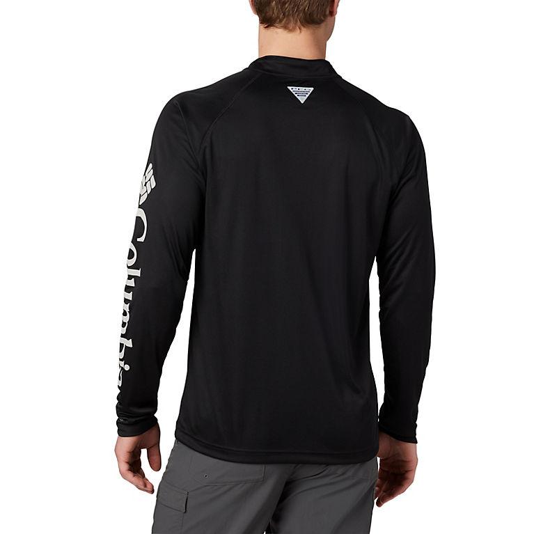 4142719f Black, Cool Grey Logo Men's PFG Terminal Tackle™ 1/4 Zip Pullover –