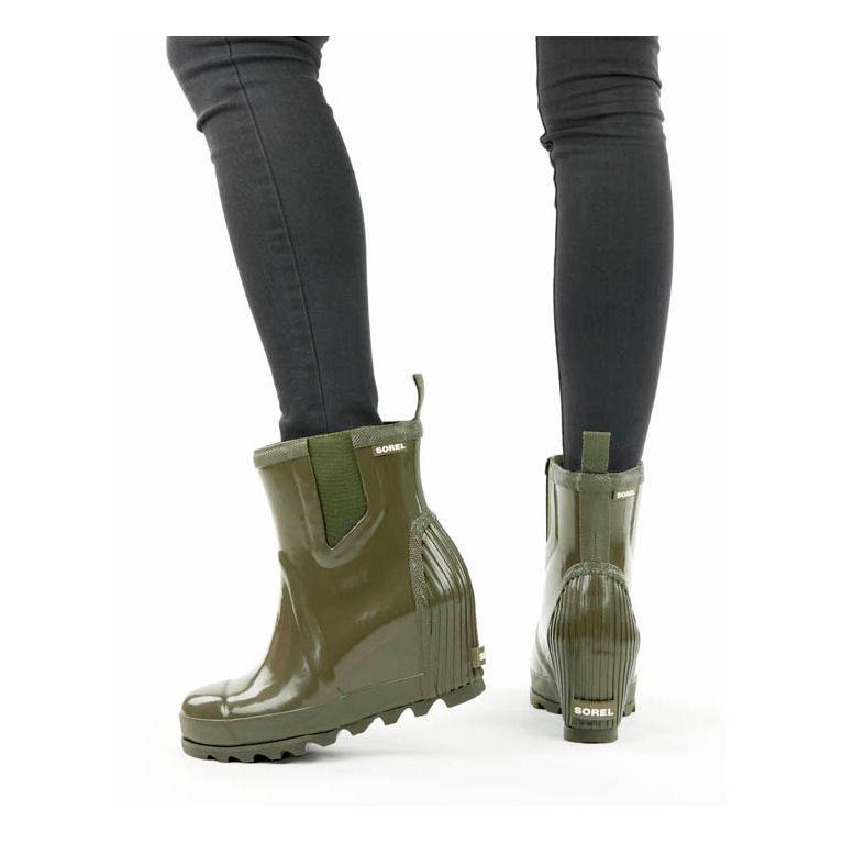 9c106d5d7f95 Women s Joan Rain Rubber Wedge Chelsea Gloss Boot