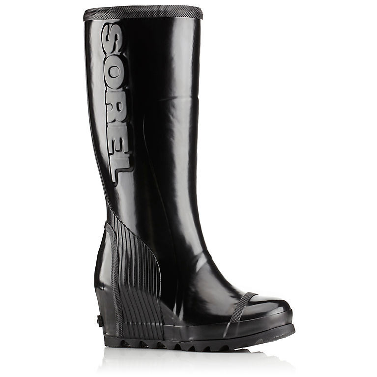 b7cade62c1d Women s Joan Waterproof Rain Wedge Tall Gloss Boot