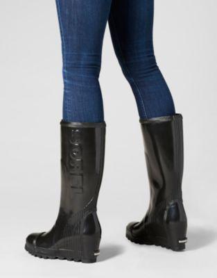 1dfec78484e Women s Joan Waterproof Rain Wedge Tall Gloss Boot