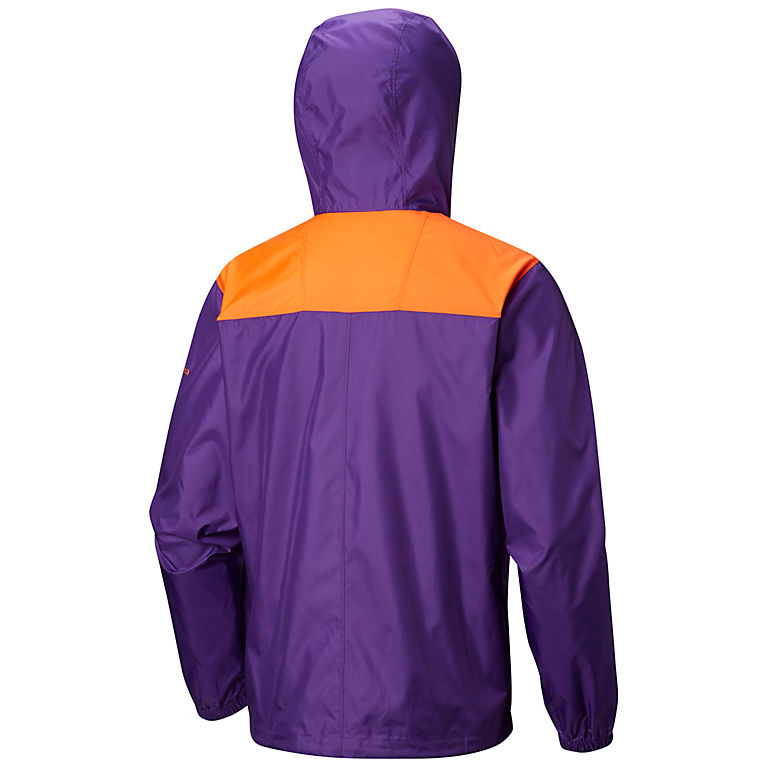 a28a4180 CLE - Vivid Purple, Orange Men's Collegiate Flashback™ Windbreaker -  Clemson, View 1