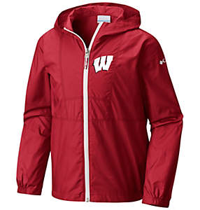 Collegiate Youth Flashback™ Windbreaker - Wisconsin