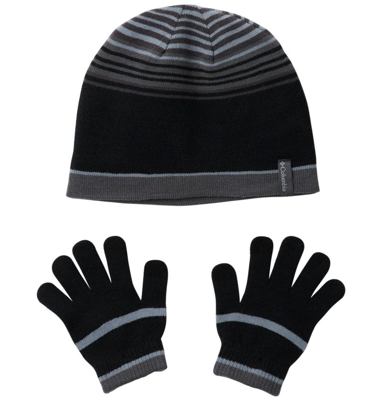 Youth Hat and Glove Set™ | 010 | O/S Youth Hat and Glove Set™, Black, front
