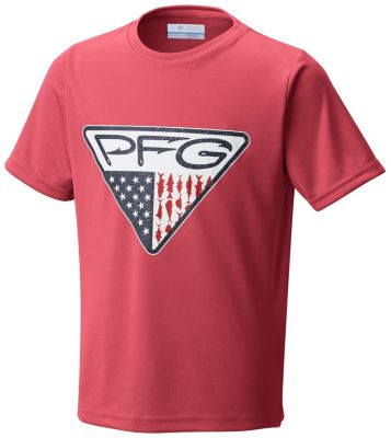 Youth Boys PFG Triangle™ Fill Short Sleeve Shirt | Tuggl