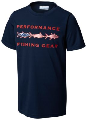 Youth Boys PFG Freedom Fish™ Short Sleeve Shirt | Tuggl