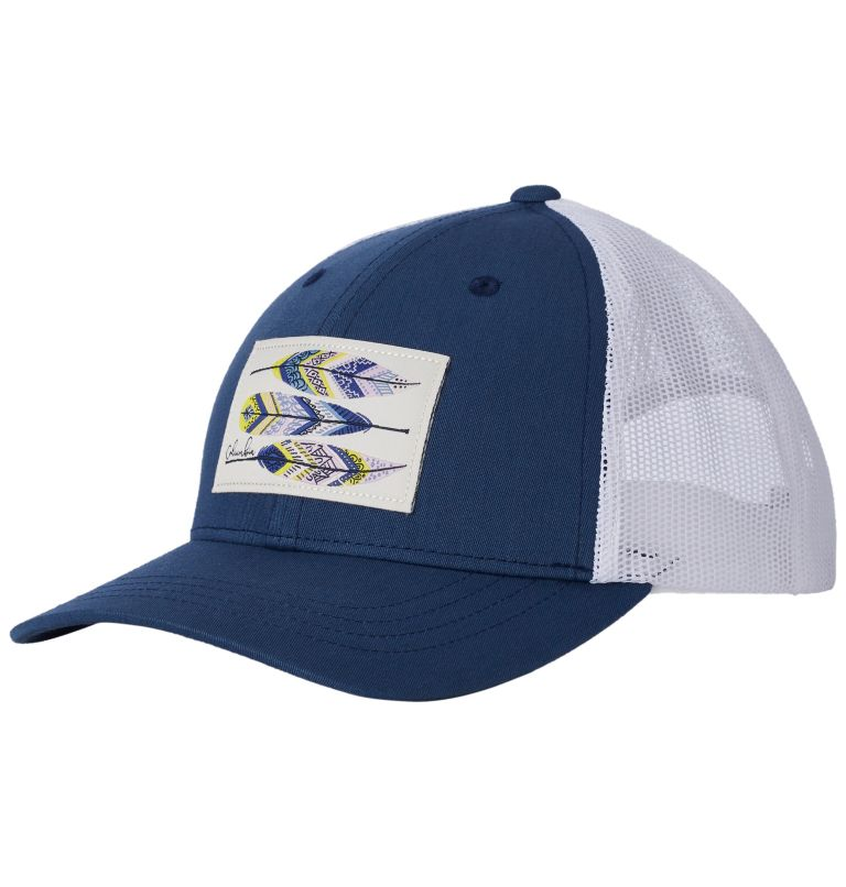 Columbia Youth™ Snap Back Hat | 469 | O/S Youth Columbia™ Snap Back Cap, Carbon, Feather Patch, front