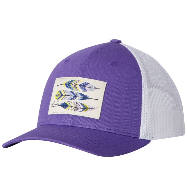 Columbia Youth™ Snap Back Hat | 576 | O/S Youth Columbia™ Snap Back Cap, Grape Gum, Feather Patch, front