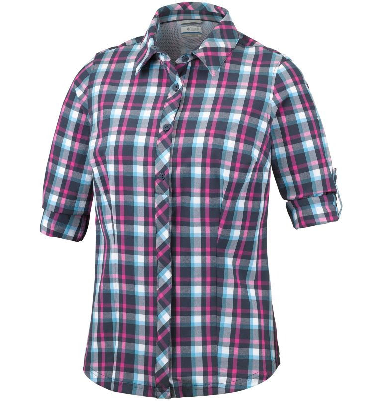 Women's Saturday Trail™ Stretch Long Sleeve Plaid Shirt Women's Saturday Trail™ Stretch Long Sleeve Plaid Shirt, a1