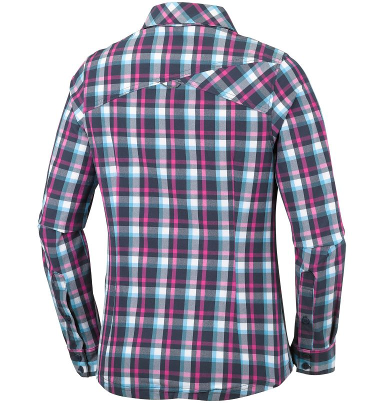 Women's Saturday Trail™ Stretch Long Sleeve Plaid Shirt Women's Saturday Trail™ Stretch Long Sleeve Plaid Shirt, back