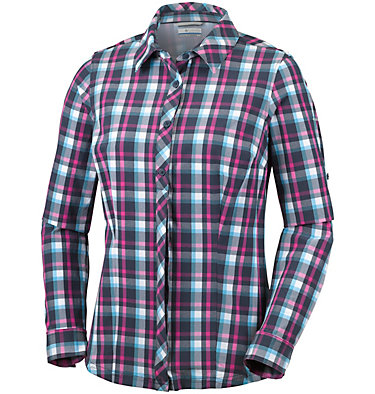 Women's Saturday Trail™ Stretch Long Sleeve Plaid Shirt , front