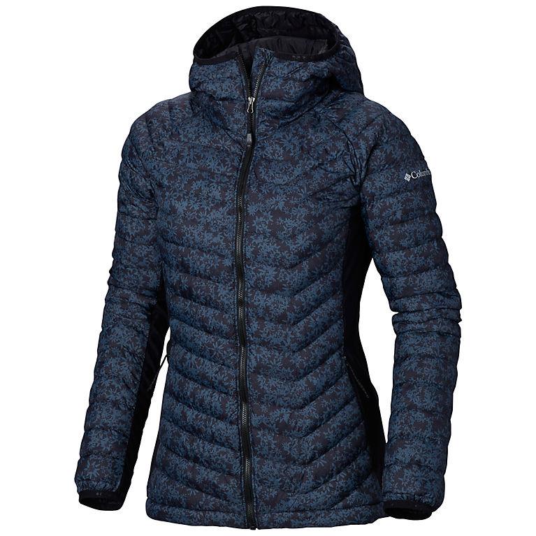 57ec5325792 Black Edelweiss Print Women s Powder Pass™ Hooded Jacket