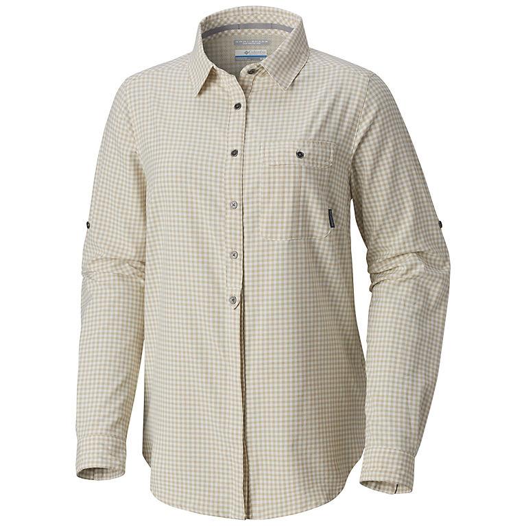 1119e150 Light Bisque Gingham Women's Bryce Canyon™ Stretch Long Sleeve Shirt, View 0